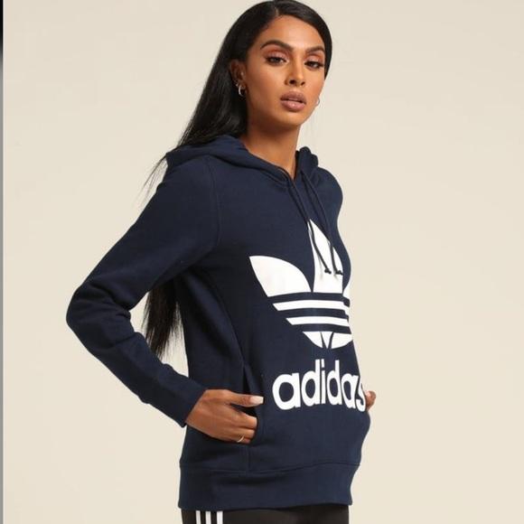 nett adidas Tops   Nwt Originals Trefoil Hoodie   Poshmark